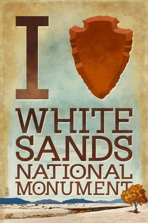 I Heart White Sands National Monument, New Mexico