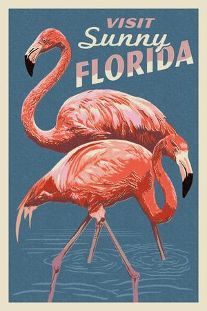 Visit Sunny Florida - Flamingo