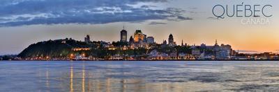 Quebec, Canada - Skyline at Sunset Panoramic