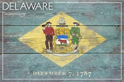 Delaware State Flag - Barnwood Painting
