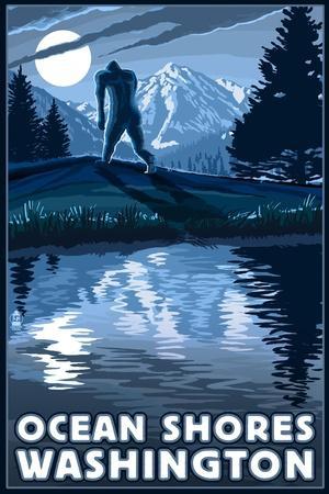 Ocean Shores, Washington - Bigfoot and Mountain