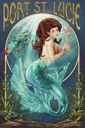 Port St. Lucie, Florida - Mermaid