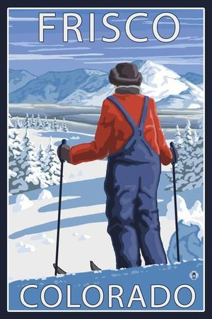 Frisco, Colorado - Skier Admiring