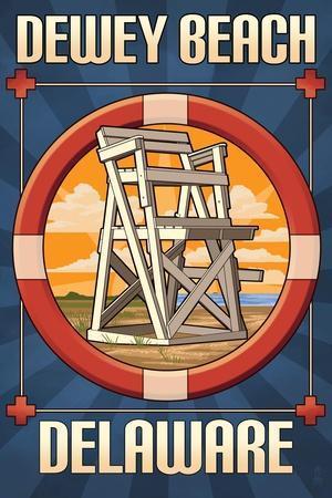 Dewey Beach, Delaware - Lifeguard Chair