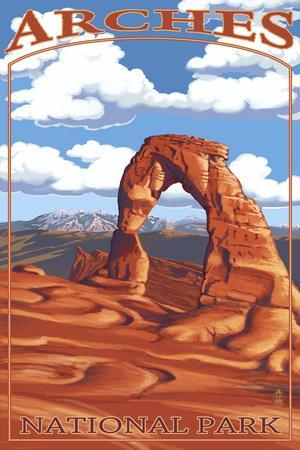 Arches National Park, Utah - Delicate Arch - Day Scene