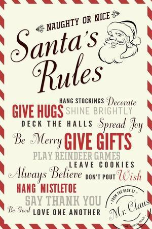 Santa's Rules Typography