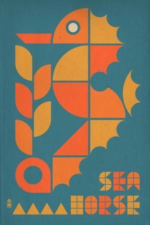 Seahorse Geometric (Blue)