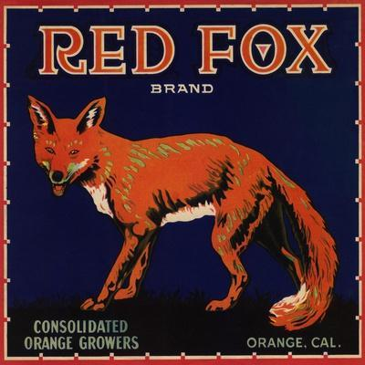 Red Fox Brand - Orange, California - Citrus Crate Label