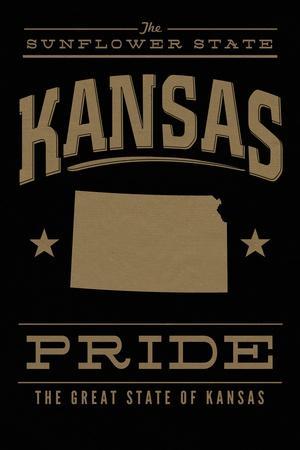Kansas State Pride - Gold on Black