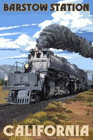 Barstow Station, California - Steam Locomotive