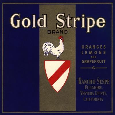 Gold Stripe Brand - Fillmore, California - Citrus Crate Label