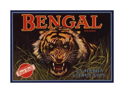 Bengal Brand - La Habra, California - Citrus Crate Label