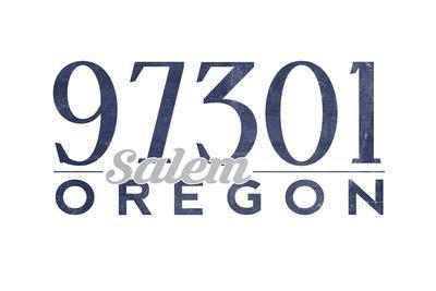 Salem, Oregon - 97301 Zip Code (Blue)