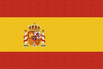 Spain Country Flag - Letterpress
