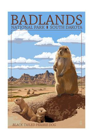 Badlands National Park, South Dakota - Prairie Dogs