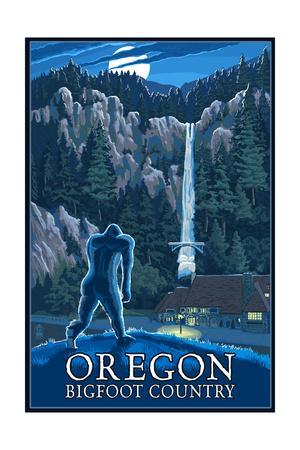 Oregon Bigfoot Country and Multnomah Falls