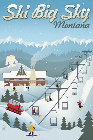 Big Sky, Montana - Retro Ski Resort