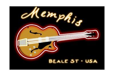 Memphis, Tennesse - Neon Guitar Sign