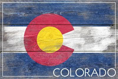 Colorado State Flag - Barnwood Painting