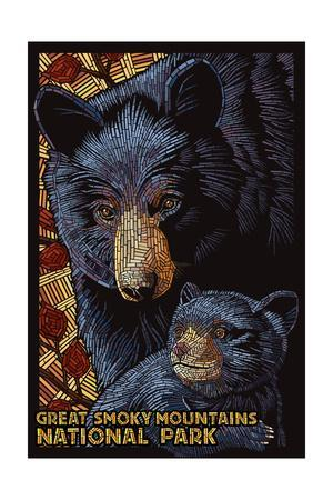 Great Smoky Mountains National Park - Black Bears - Mosaic