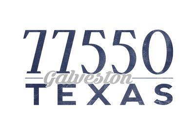 Galveston, Texas - 77550 Zip Code (Blue)