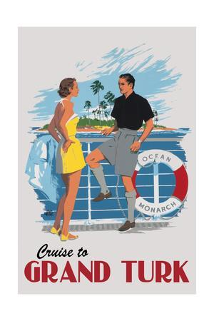 Cruise to Grand Turk Vintage Poster