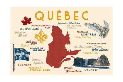 Quebec, Canada - Typography and Icons