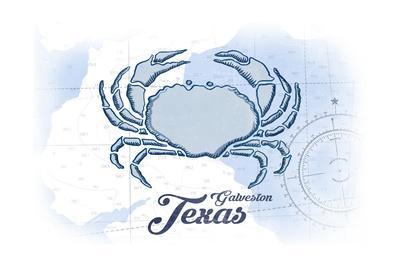 Galveston, Texas - Crab - Blue - Coastal Icon