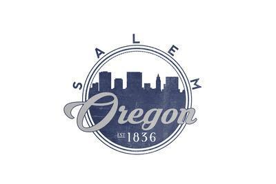 Salem, Oregon - Skyline Seal (Blue)