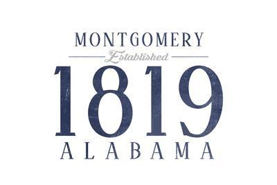 Montgomery, Alabama - Established Date (Blue)