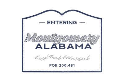 Montgomery, Alabama - Now Entering (Blue)