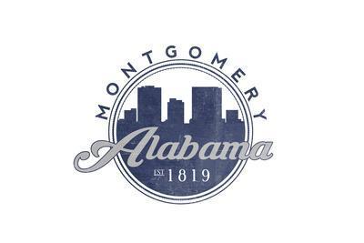 Montgomery, Alabama - Skyline Seal (Blue)