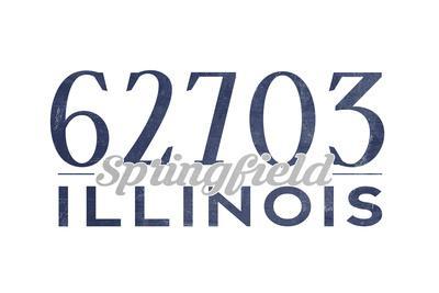 Springfield, Illinois - 62703 Zip Code (Blue)