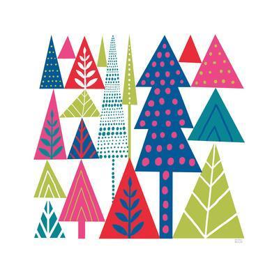Geometric Holiday Trees II Bright