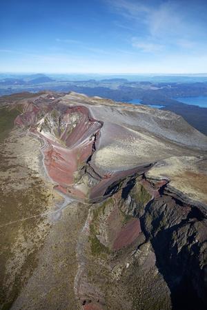 Crater of Mount Tarawera, near Rotorua, North Island, New Zealand