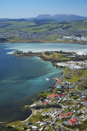 Ohinemutu Maori Village, Lake Rotorua and waterfront, Rotorua, North Island, New Zealand