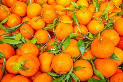 Oranges displayed in market in Shepherd's Bush, London, U.K.