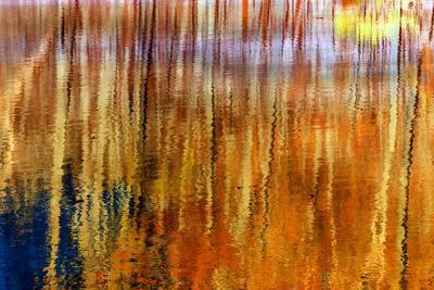Colorful abstract reflection in lake water