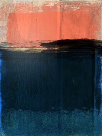 Tiger Orange and Blue Abstract Study
