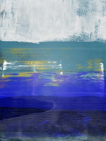 Blue and Light Gray Abstract Study