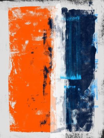 Abstract Orange and Blue Study