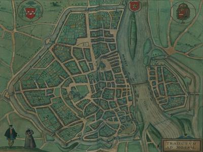 Map of Maastricht, Netherlands...by Georg Joris Hoefnagel