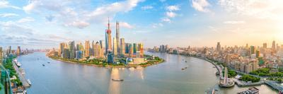 View of Downtown Shanghai Skyline in China