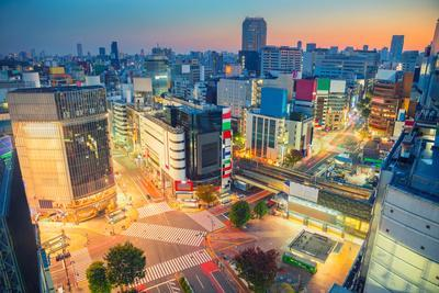 Tokyo. Cityscape Image of Shibuya Crossing in Tokyo, Japan during Sunrise.