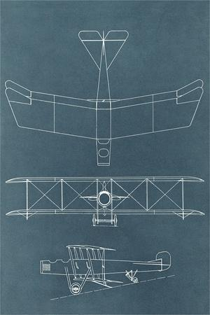 Blueprint for Early Biplane