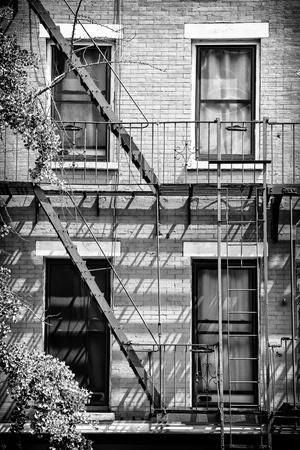 Black Manhattan Collection - Fire Escape Stairs New York