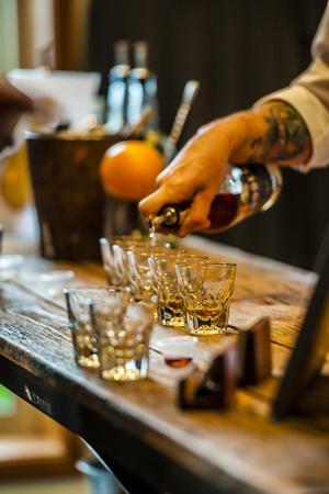 'USA, Washington State, Woodinville. Bourbon whiskey ...