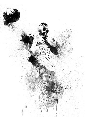 Kobe Bryant Watercolor II