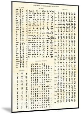 Various Ancient Alphabets: Coptic, Syriac, Ethioptic, Gothic, and Illyrian