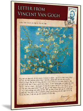 Letter from Vincent: Almond Blossom, C1890 by Vincent van Gogh
